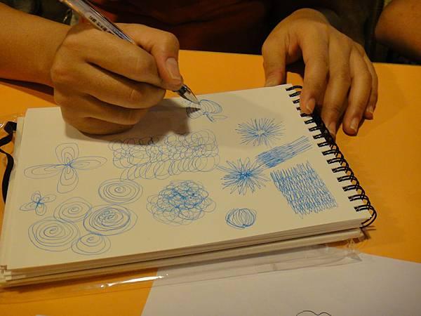 學生鋼珠筆上色畫法練習(2)