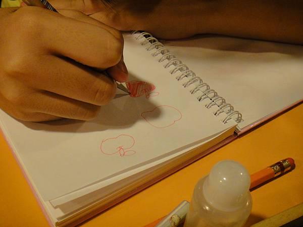 學生鋼珠筆上色畫法練習(3)