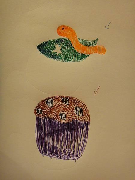 學生鋼珠筆上色畫法練習(7)