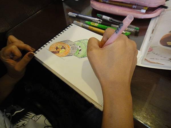 》學生鋼珠筆甜點畫(蛋糕)練習(6)