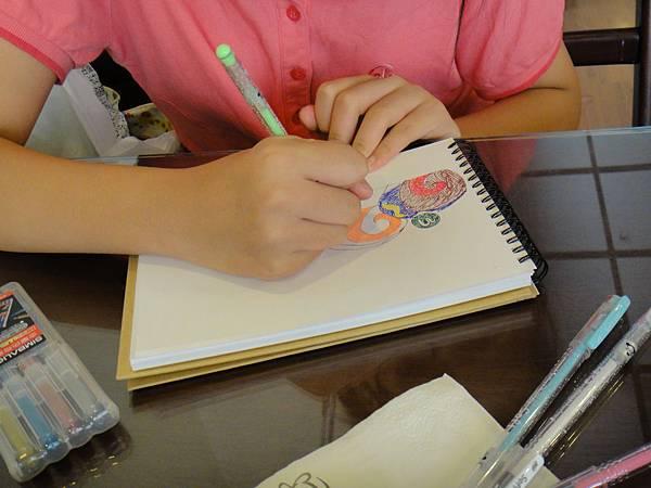 》學生鋼珠筆甜點畫(蛋糕)練習(2)