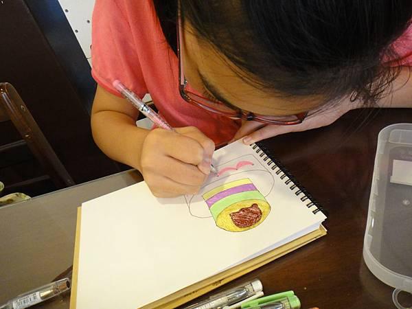 》學生鋼珠筆甜點畫(生日蛋糕)練習(2)
