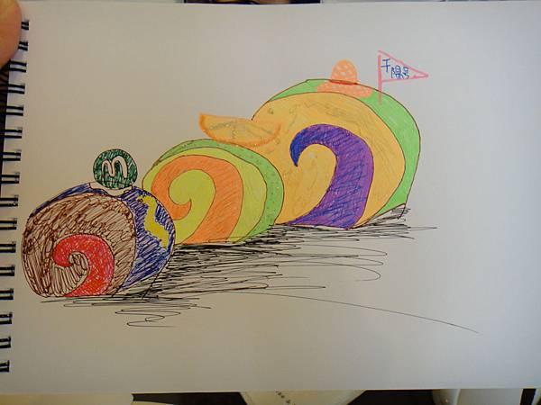 》學生鋼珠筆甜點畫(蛋糕)練習(4)