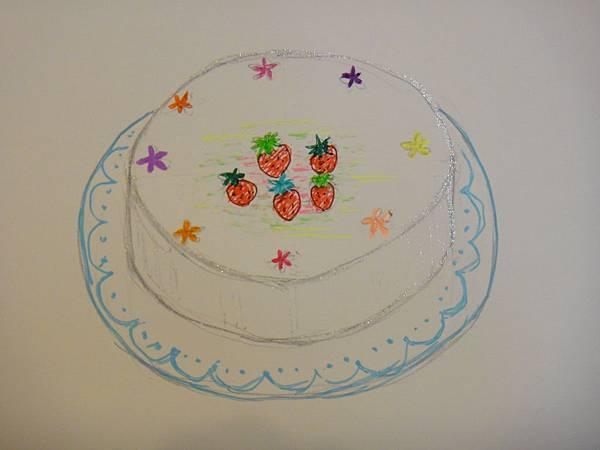 》學生鋼珠筆甜點畫(生日蛋糕)練習(6)