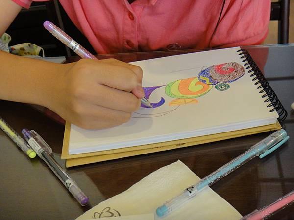 》學生鋼珠筆甜點畫(蛋糕)練習(3)