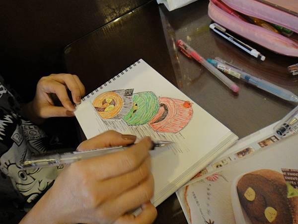 》學生鋼珠筆甜點畫(蛋糕)練習(7)