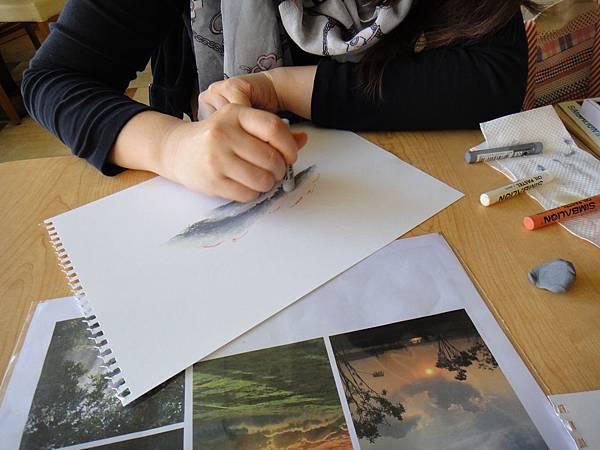 》學生雲朵曙光的畫法練習(2)