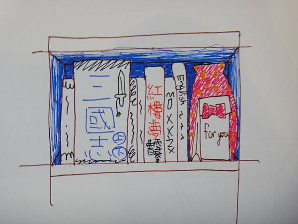 》學生鋼珠筆家具物品畫練習(2)