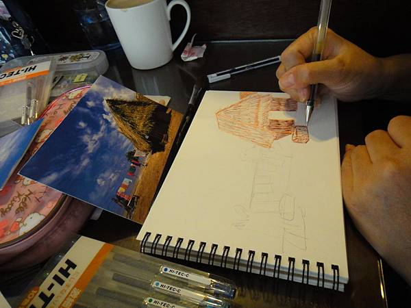 》學生水性鋼珠筆風景創意畫(2)