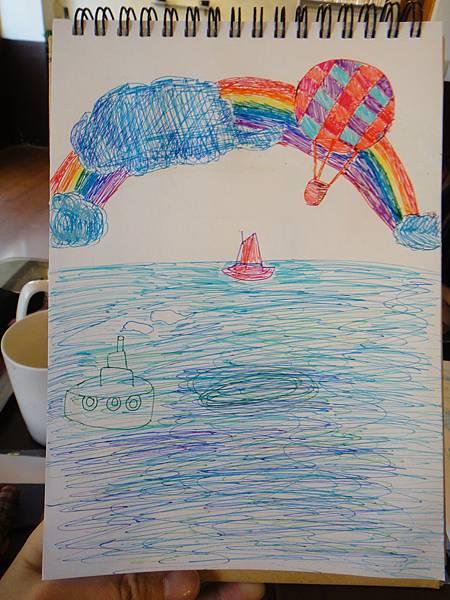 》學生水性鋼珠筆風景創意畫(5)
