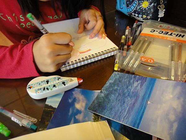 》學生水性鋼珠筆風景創意畫(3)