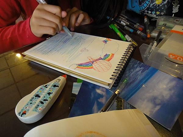 》學生水性鋼珠筆風景創意畫(4)