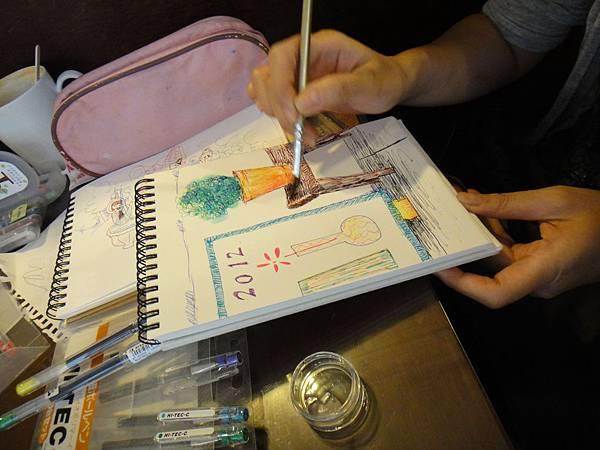 》學生水性鋼珠筆刷水店景創意畫(6)