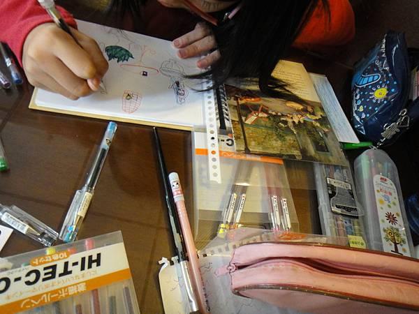 》學生水性鋼珠筆店景創意畫(3)