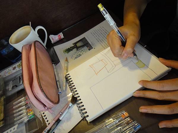 》學生水性鋼珠筆店景創意畫(1)