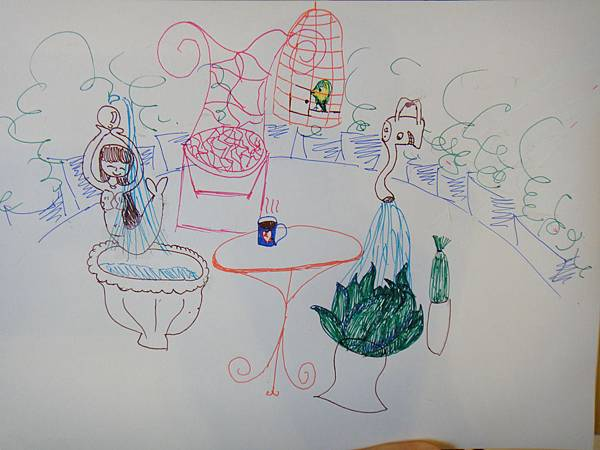 》學生水性鋼珠筆店景創意畫(5)