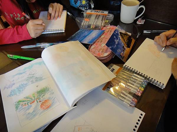 》學生水性鋼珠筆風景創意畫(1)