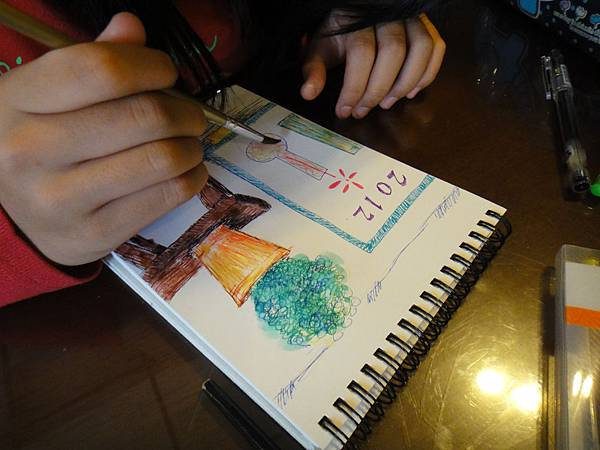 》學生水性鋼珠筆刷水店景創意畫(7)