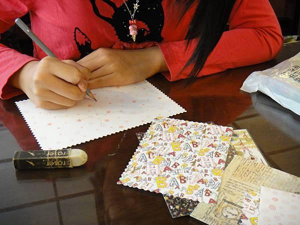 》學生鋼珠筆美術紙創意畫k_1