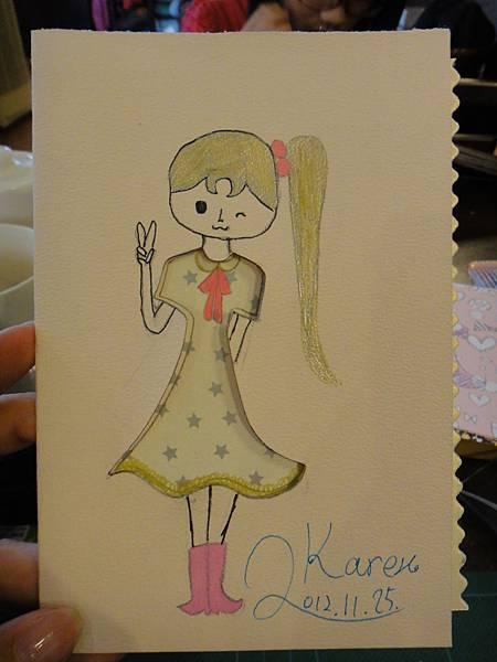 》學生鋼珠筆美術紙創意畫k_13