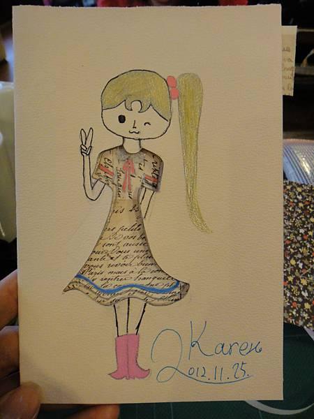 》學生鋼珠筆美術紙創意畫k_11