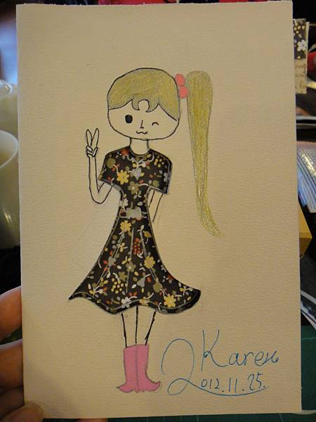》學生鋼珠筆美術紙創意畫k_10