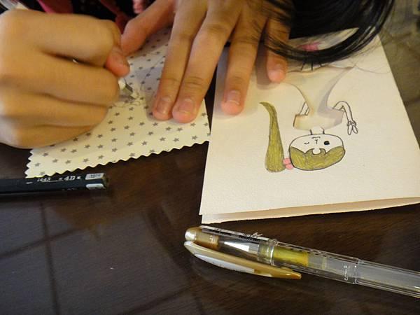 》學生鋼珠筆美術紙創意畫k_9