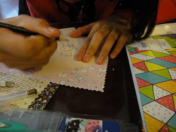 》學生鋼珠筆美術紙創意畫k_8