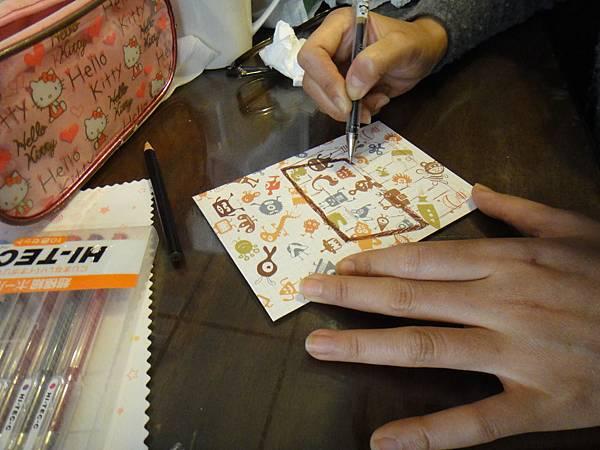 》學生鋼珠筆美術紙創意畫S_6