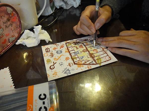 》學生鋼珠筆美術紙創意畫S_7