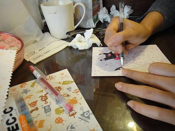 》學生鋼珠筆美術紙創意畫S_3