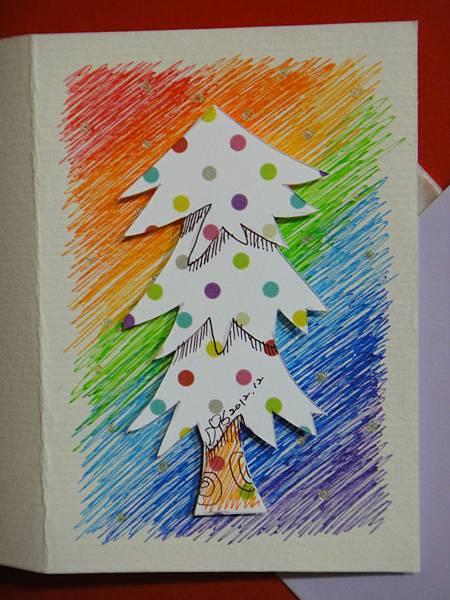彩虹色雪白聖誕樹_1