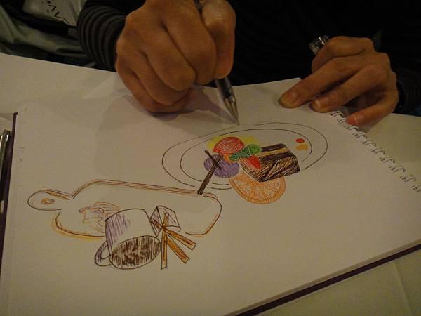 》學生甜點鋼珠筆畫練習(5)