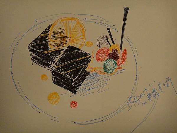 ※甜點鋼珠筆畫示範圖