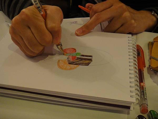 》學生甜點鋼珠筆畫練習(3)