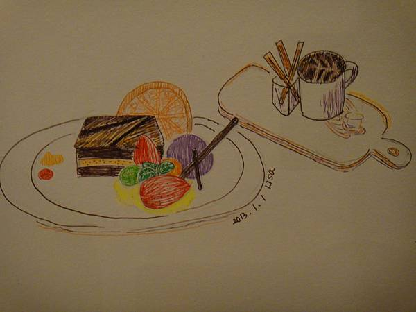 》學生甜點鋼珠筆畫練習(成品)Lisa