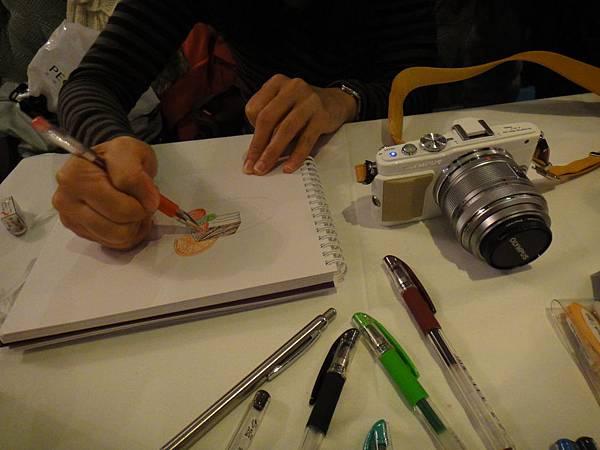 》學生甜點鋼珠筆畫練習(2)