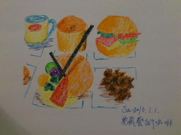 》學生甜點鋼珠筆畫練習(成品)Teresa