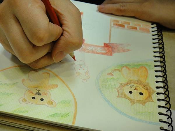 》學生色鉛全畫接續完成_可愛動物園(3)