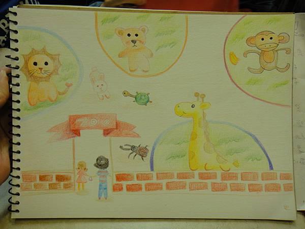 》學生色鉛全畫接續完成_可愛動物園(成品)