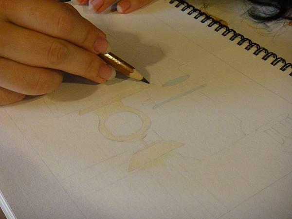 》學生色鉛全景混色畫練習(1)