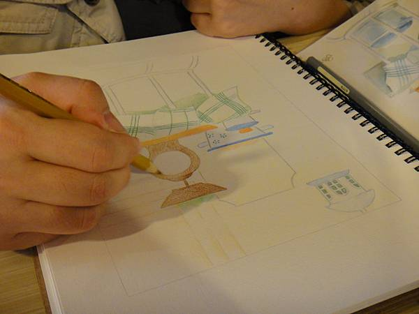 》學生色鉛全景混色畫練習(5)
