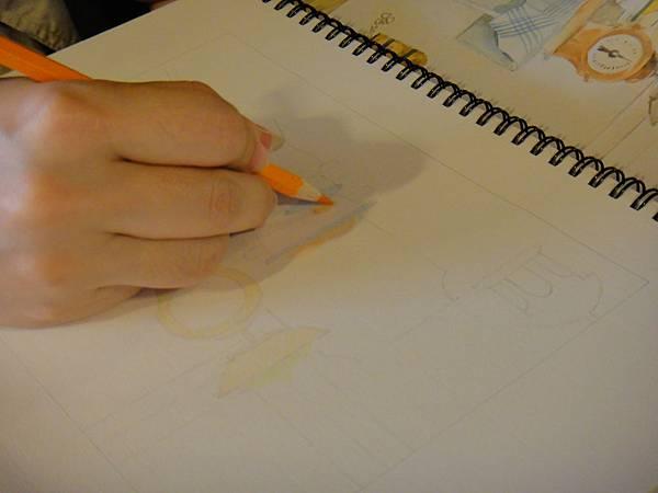 》學生色鉛全景混色畫練習(2)