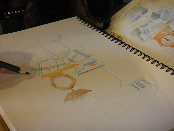 》學生色鉛全景混色畫練習(4)