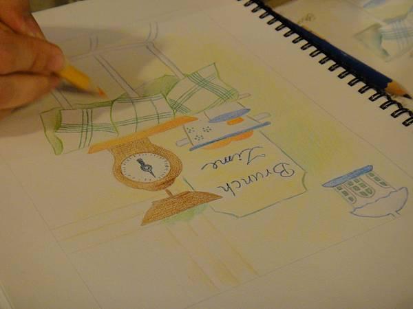 》學生色鉛全景混色畫練習(8)