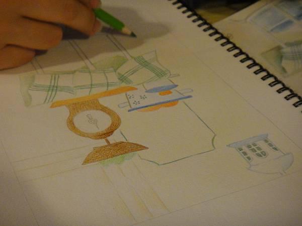》學生色鉛全景混色畫練習(6)