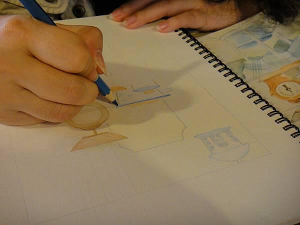 》學生色鉛全景混色畫練習(3)