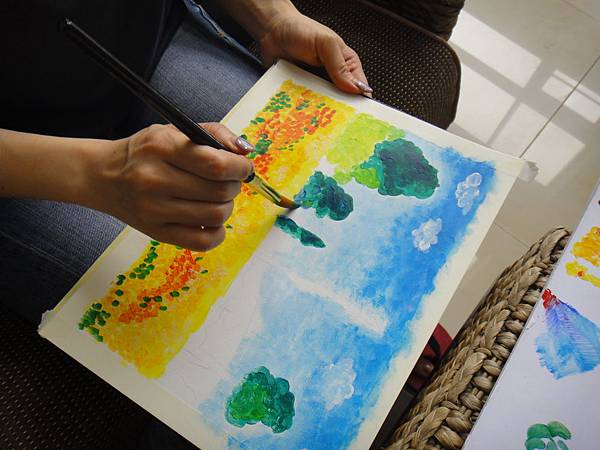 》學生壓克力風景畫練習(4)