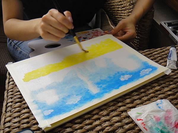》學生壓克力風景畫練習(1)