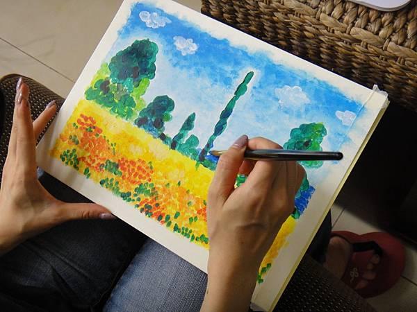 》學生壓克力風景畫練習(5)